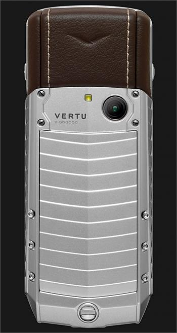 Vertu Acsent new Aluminium, stainless steel keys, brown leather