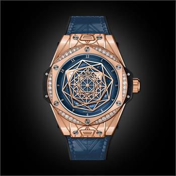 Đồng Hồ Hublot BigBang One Click Sang Bleu King Gold Blue Diamonds 39mm