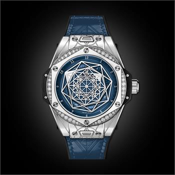 Đồng Hồ Hublot BigBang One Click Sang Bleu Steel Blue Diamonds 39mm
