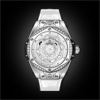 Đồng Hồ Hublot BigBang One Click Sang Bleu Steel White Diamonds 39mm