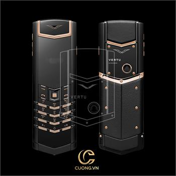 Vertu Signature S Pure Black Mixed Red Gold