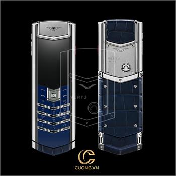 Vertu Signature S Navy Alligator 2017