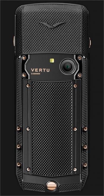 Vertu Acsent new Black Knurl Red Gold Mixed Metals