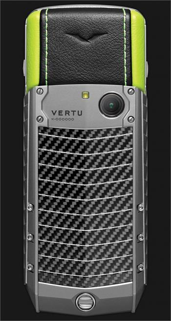Vertu Acsent new Titanium, Carbon fibre Green leather