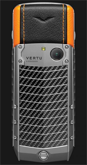 Vertu Acsent new Titanium, Carbon fibre Orange leather