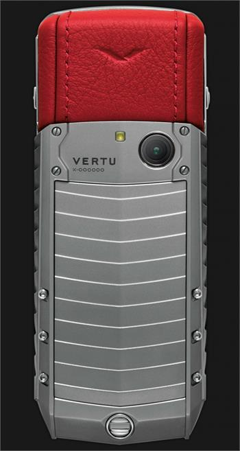 Vertu Acsent new Titanium, stainless steel, red leather